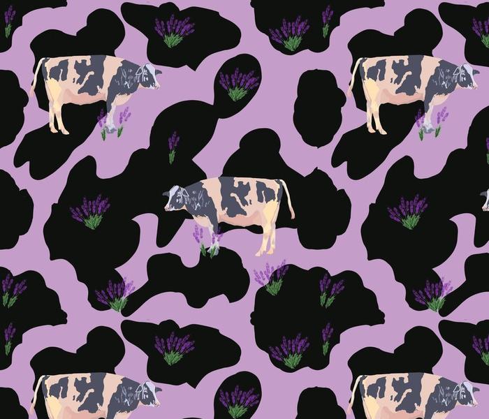 Lg. Lavender Moo! By DulciArt, LLC