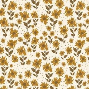 Sunflower girl in cream- 4.5x4.5
