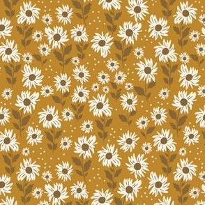 Sunflower girl in golden- 4.5x4.5