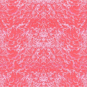 FBK Abstract Drippings coral red