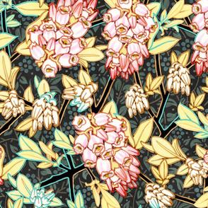 Elegant Blueberry Flowers
