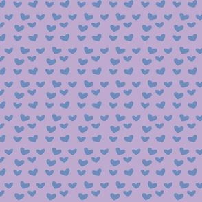 Blue on Purple Polka Hearts