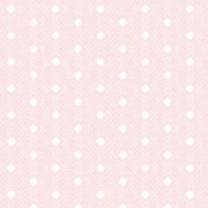 A Whisper of Pink Filigree on White