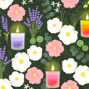 Aromatherapy-Roses-and-Candles
