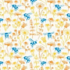 Buzzing Herb Garden (Yellow, Orange, Blue) – Small Scale