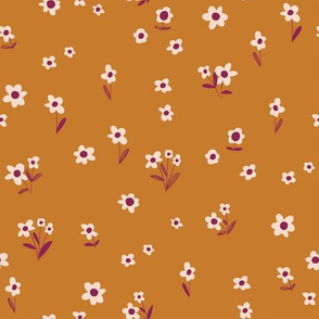 Country Flowers - copper