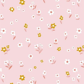 Country Flowers - light pink