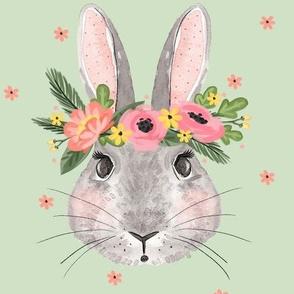 Summertime Bunnies - Sage Background
