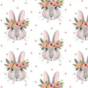 Summertime Bunnies - White background