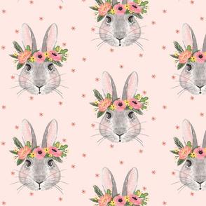 Summertime Bunnies - Pink background