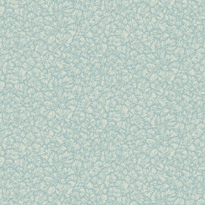 Rainforest Leaf Texture- Soft Aqua