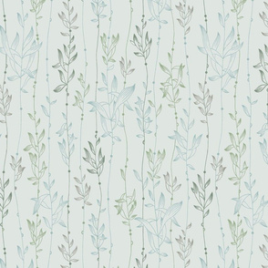 Rainforest Vine- Soft Grey