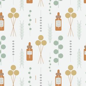 Aromatherapy Herbs & Bottles