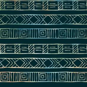 geometric on black background