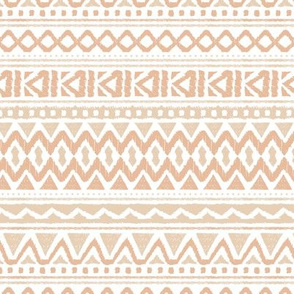 Boho summer colorful aztec design summer geometric triangles peru print peach coral beige