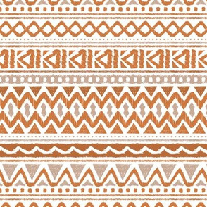 Boho summer colorful aztec design summer geometric triangles peru print stone red copper brown