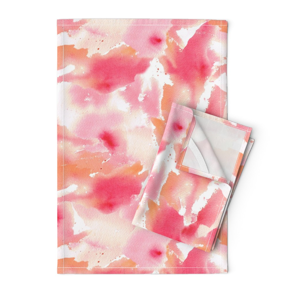 Orpington Tea Towels featuring Texas Modern Sunset by jacinda