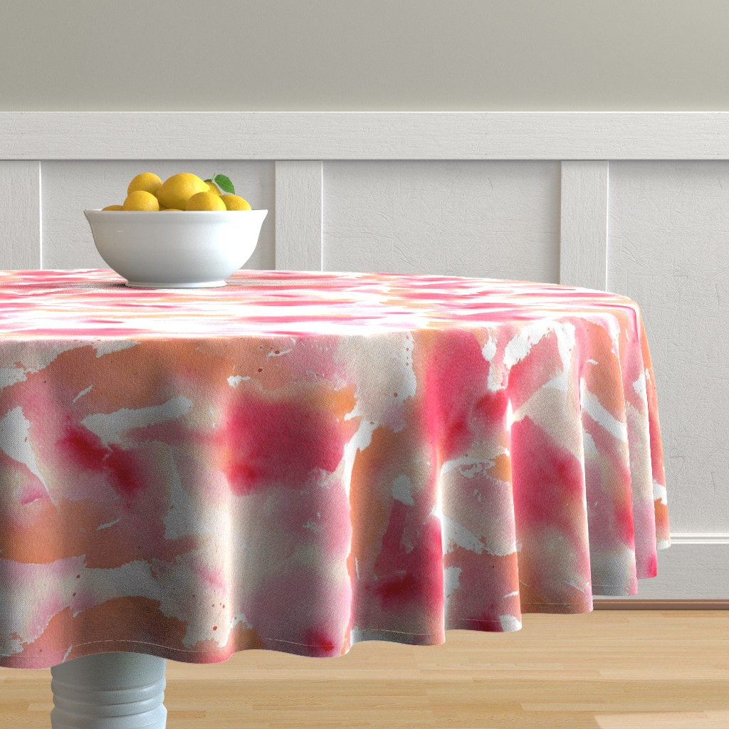 Malay Round Tablecloth featuring Texas Modern Sunset by jacinda