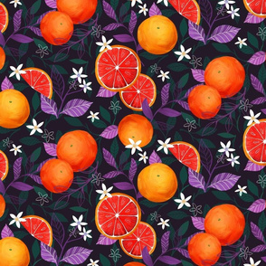 basil and blood orange