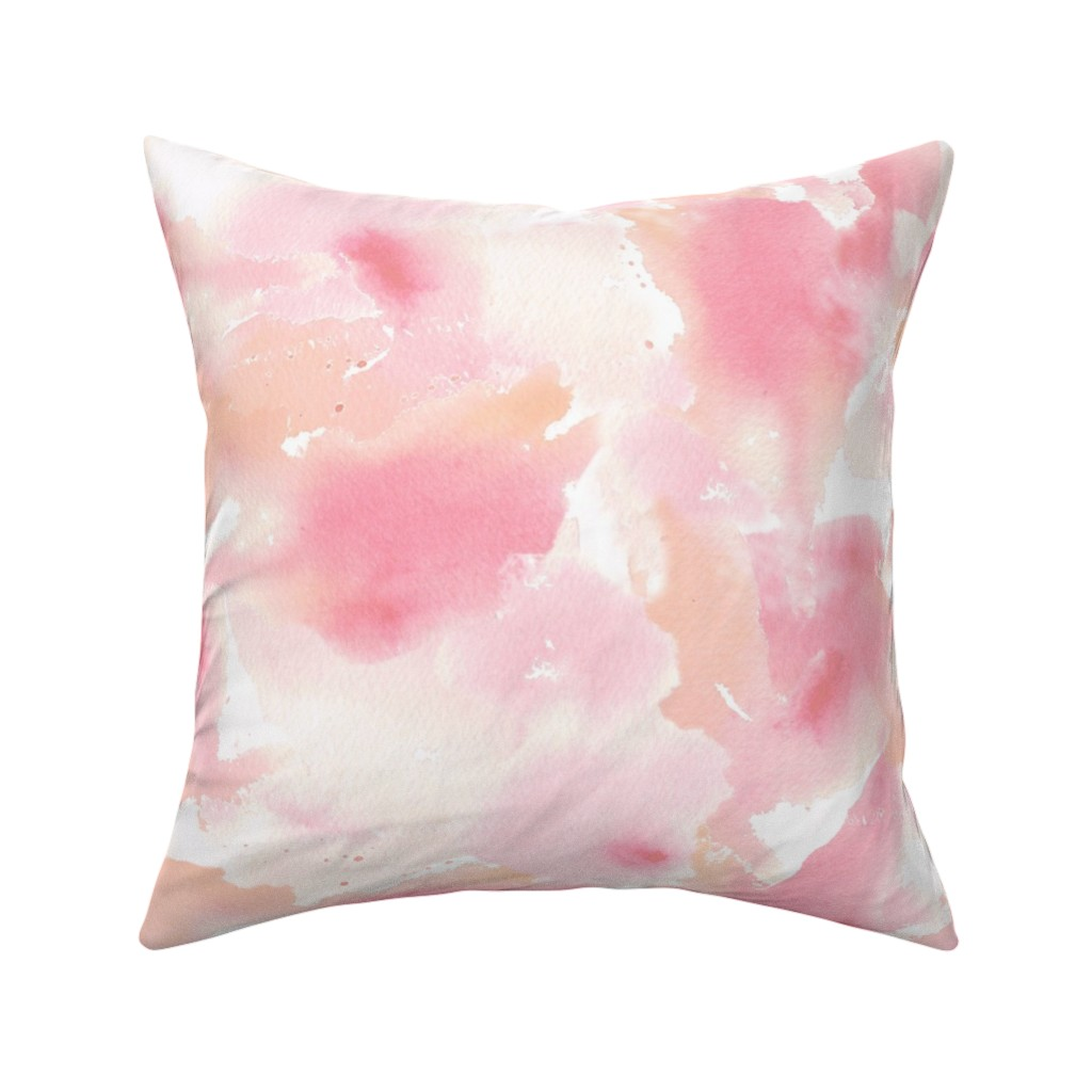 Catalan Throw Pillow featuring Texas Modern Sunset Pastel by jacinda