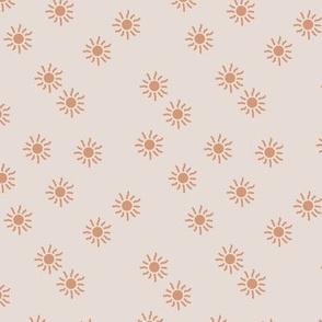 Little sunshine summer day dream sweet minimal Scandinavian neutral nursery orange coral off white beige