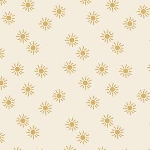 Little sunshine summer day dream sweet minimal Scandinavian neutral nursery butter yellow mustard