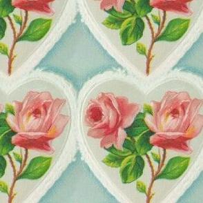 Vintage rose heart (large)