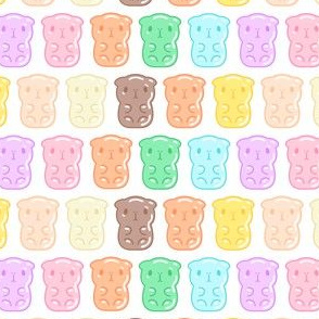 Colorful Gummy Guinea Pigs Pattern, Large Gummy, Small Scale