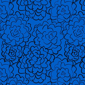 wild roses in blue