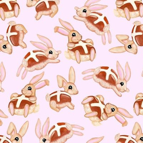 Hot Cross Bunnies | Pink | Large
