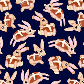 Hot Cross Bunnies | Navy | Large