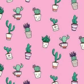 Cute Cacti in Pink