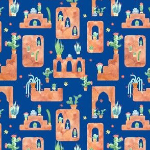 Cactus City on Blue