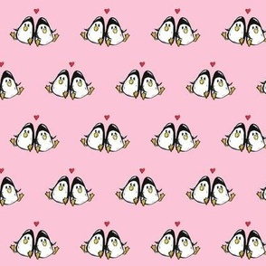 Loveable Found Penguins in Pink