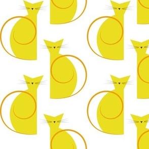 cats - luna cat orange - geometric cats