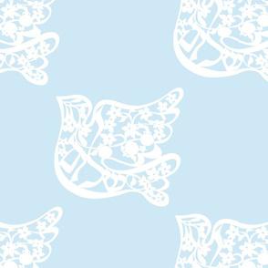Shalom dove light blue