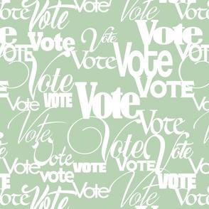 VOTE sage green background
