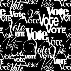 VOTE black background