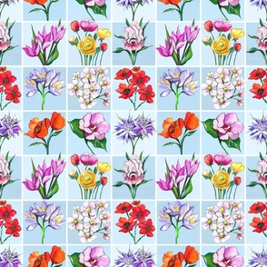 Flowers of the Holy Land_ light blue background