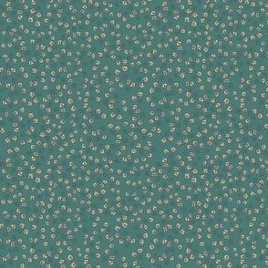 Barkcloth small dk. Green