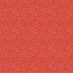Watercolor Gold Dot on Red