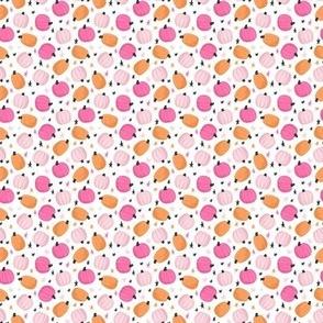 Cute Pink & Orange Pumpkins and Stars - Micro