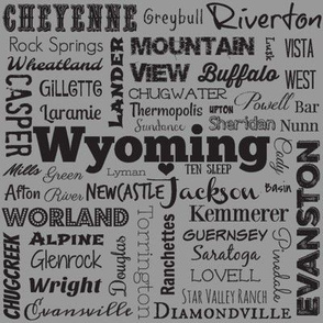 Wyoming cities,  gray