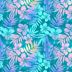 Light blue pearl tropical flowers