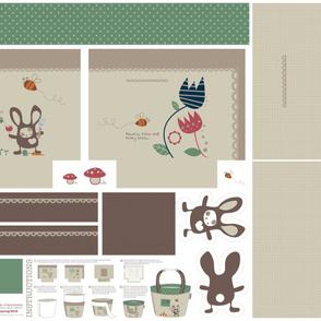 Zakka style Tote Bag - Springtime Bunny