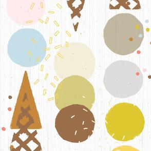 Ice Cream Cones M+M White by Friztin