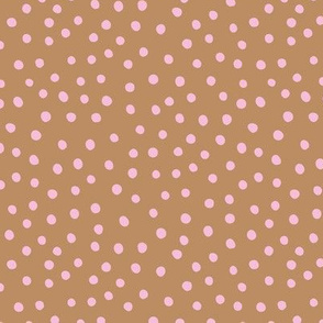 Little spots and speckles new panther animal skin abstract minimal dots in autumn caramel pink SMALL