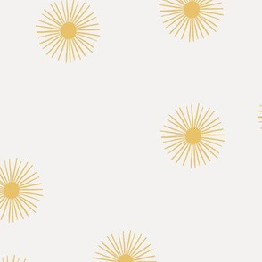 Oh sunshine sunny day sweet Scandinavian abstract suns gender neutral nursery print yellow off white