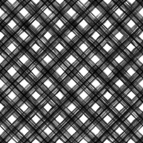 Shibori Check - Black and White