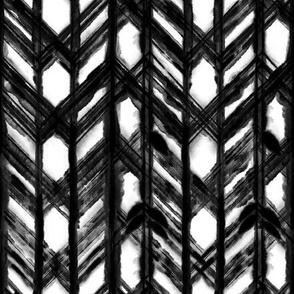 Shibori Lattice - Black